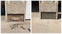 STUCCO: Cracks, Patches, Pargings, Repairs