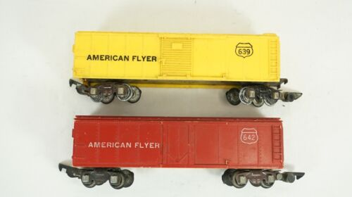 American Flyer S Gauge 639 & 642 Box Car Lot No Boxes B20