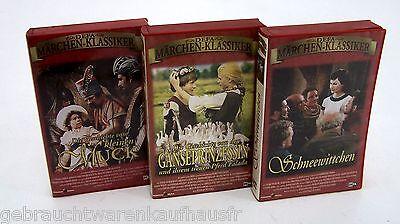 DEFA-Märchenklassiker 3 Märchenfilme – VHS-Videos Geb.Grimm / Wilh. Hauff