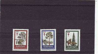 FINLAND - SG723-725 MNH 1967 TB RELIEF FUND - PLANTS