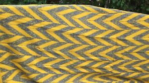 Vintage Chevron Wool Blanket from Netherlands