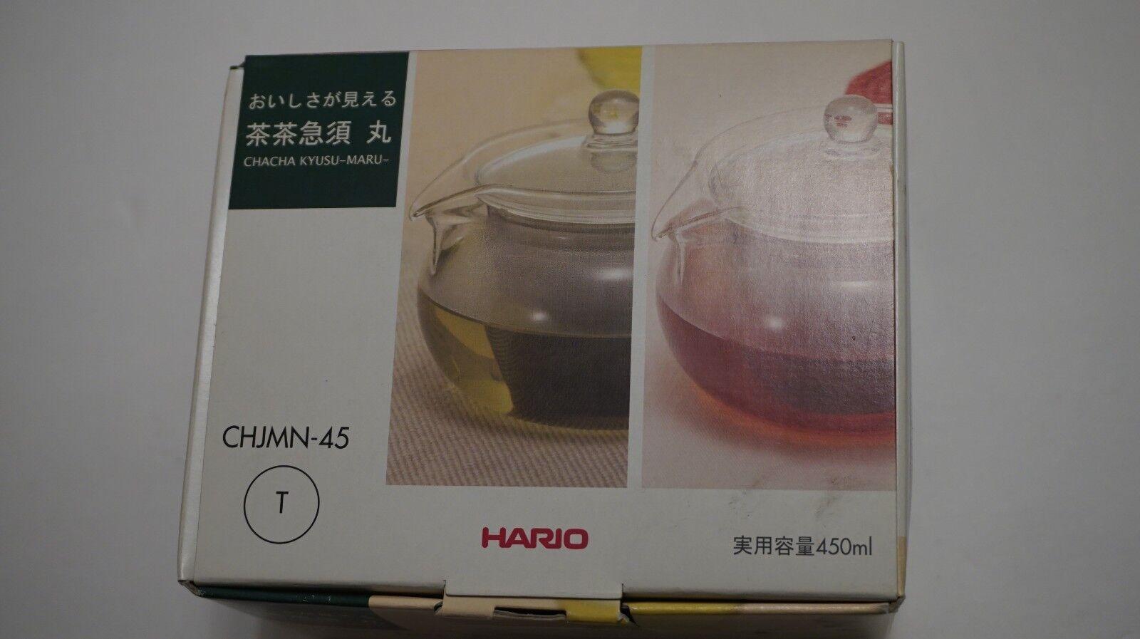 Hario Green Tea All Glass Tea Pot Japanese Cha Cha Kyusu Mar