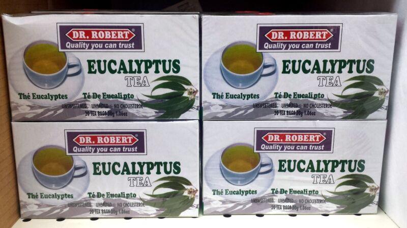 Dr. Robert Eucalyptus  Tea -  4 Pack - 80 Tea Bags