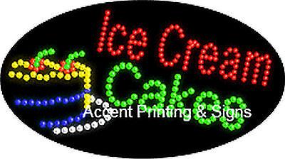 ICE CREAM CAKES Flashing & Animated Real LED SIGN