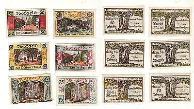 6 Banknoten Notgeld Gemeinde Trittau in Holstein um 1920 (112324)