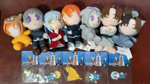 Fruits Basket Sohma Plush and Patch Lot 2001 Funimation - 7 Plush and 5 Patches