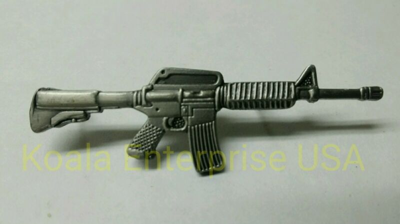 AR-15 Lapel Pin  Automatic Rifle Gun 223 5.56 Hat Cap Military Weapon