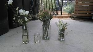 glass jars and decorations used for wedding Newport Pittwater Area Preview