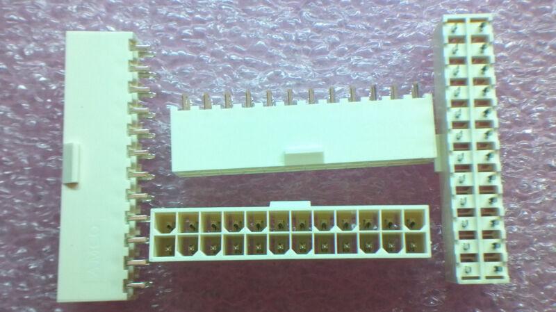 Molex ATX 24 Pin PCB Power Vertical  Connector  Molex  2X12 - 4pcs