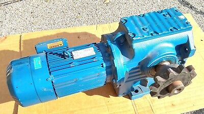 Huge Gear Box Speed Reducer Motor Drive Unit 27 Rpm 5hp 3 Phase 90 Degree 460v