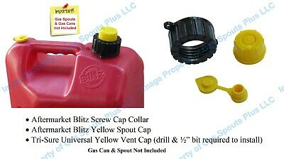 Blitz Screw Cap Collar Yellow Spout Cap Vent Store Your Blitz Spout In Gas Can