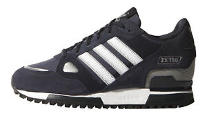 brand new bfeca 77838 adidas Originals ZX 750 Men s Running Shoes, Size 8 - Dark Navy ...