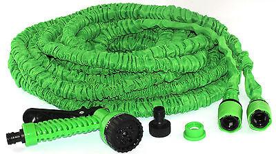 Gartenschlauch flexibel grün 30m dehnbar Wasserschlauch Aufroller mit Handbrause