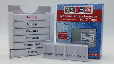 Pillendose 7 Tage Pillenbox Pillenturm Tablettenbox Medikamentenbox Spender