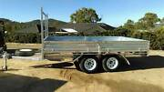 12 x 7 3.5T Galvanised Flat Deck Trailer Glenvale Toowoomba City Preview