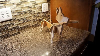 Corgi dog wine bottle and wine glasses holder