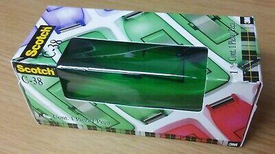 Scotch Brand Designer Tape Dispenser Transparent Green 1 Core - Brand New