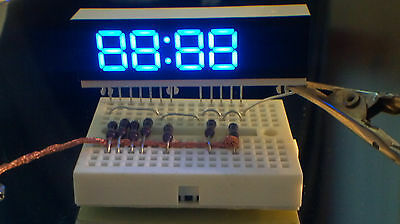 0.36 4 Digits Blue Led Display 7 Segment Common Anode Ca - 2 Pieces