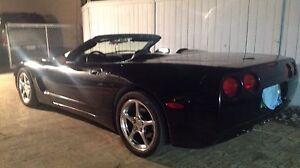 Triple Black Convertible Corvette