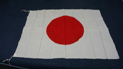 """Vintage WWII SILK JAPAN FLAG Rising Sun EXCELLENT A Beauty! 26"""" by 36"""""""