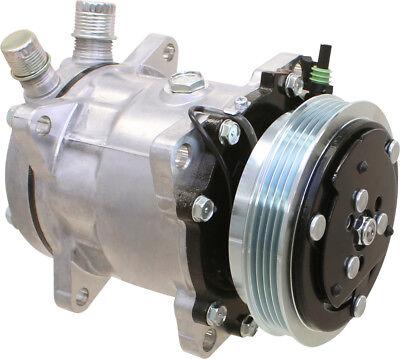 87649991 Compressor Sanden Sd5h11 Style For Case Ih 420 Skid Steer Loaders