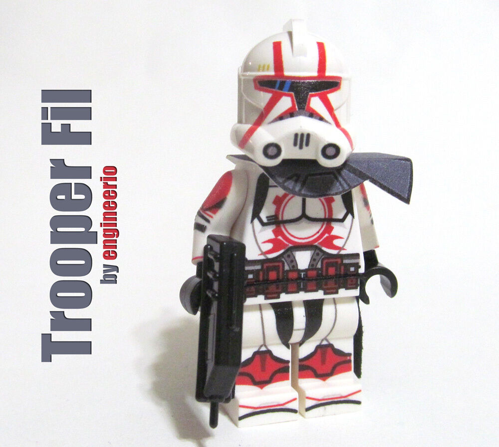 Lego Star Wars minifigures Clone Custom Troopers Commander Fil