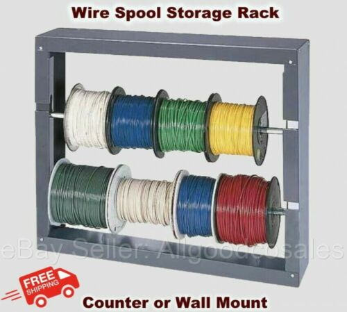 Work Shop WIRE SPOOL STORAGE RACK Wall Mount Cold Rolled Steel Welded Vehicle