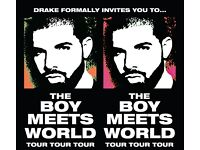 Drake - The Boy Meets World Tour at The O2 Arena Sunday 5th Feb 2017 - ALL TICKETS 100% GUARANTEED