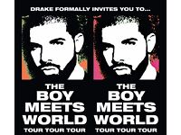 Two Drake tickets for sale. Monday 30th January 2017.