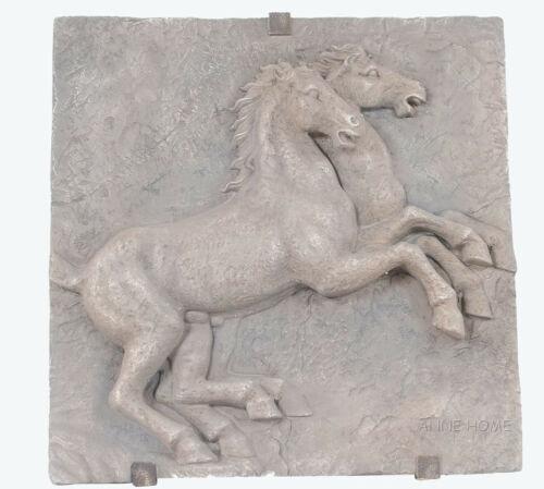 """Large Horse Wall Art Sculpture Plaque 29"""" Country Western Hanging Home Decor New"""