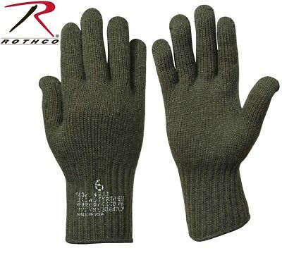 D-3A Wool Glove Liners Genuine Military Issue Olive Drab Green Rothco 8418 Olive Drab Wool Glove
