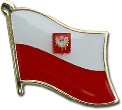 Wholesale Pack of 50 Poland Eagle Country Flag Bike Hat Cap lapel Pin