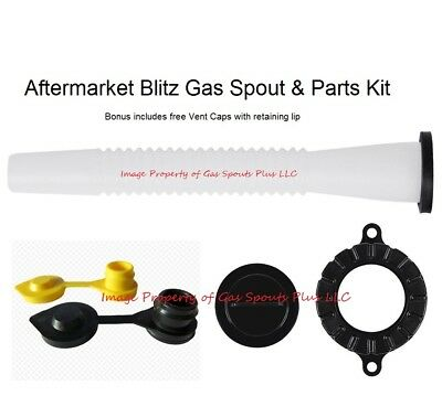 Blitz Gas Can Spout Parts Kit Includes Free Yellow Black Vents Tough N Rugged