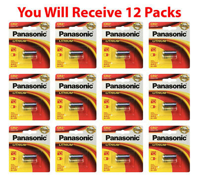 12x Panasonic CR-2 Lithium Battery CR2 CR-2PA 3V Fresh Photo Batteries   for sale  Shipping to India