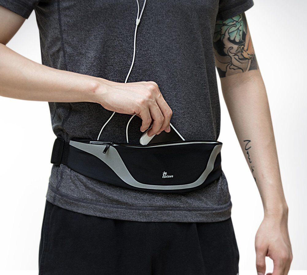 Nacuwa Running Belt Adjustable Waist Pack Waterproof Runners