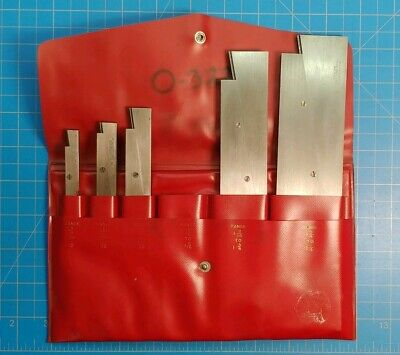 Starrett 154 Lufkin 915 Adjustable Parallels - Set Of 5 W Case- Great Shape