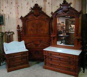GREAT-3-PIECE-1870S-VICTORIAN-WALNUT-MARBLE-TOP-BEDROOM-SET