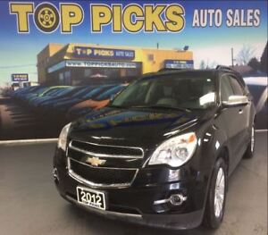 2012 Chevrolet Equinox 2LT, V6, AWD, LEATHER, SUNROOF, CHROME WH