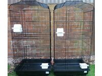 Large bird cages for Budgie Canary Finch **Deal for the pair**