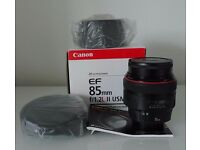 CANON EF 85mm f/1.2L II USM Mint condition