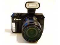 Canon EOS M Digital SLR Camera Boxed + extras (EXCELLENT CONDITION)