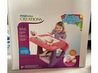 Girl's Pink Sit & Draw Creativity Desk (BRAND NEW)
