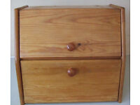Solid Varnished Pine Bread Bin