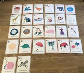 Alphabet letter and picture Wall Cards