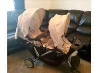 Graco duo tandem pushchair double twin buggy pram