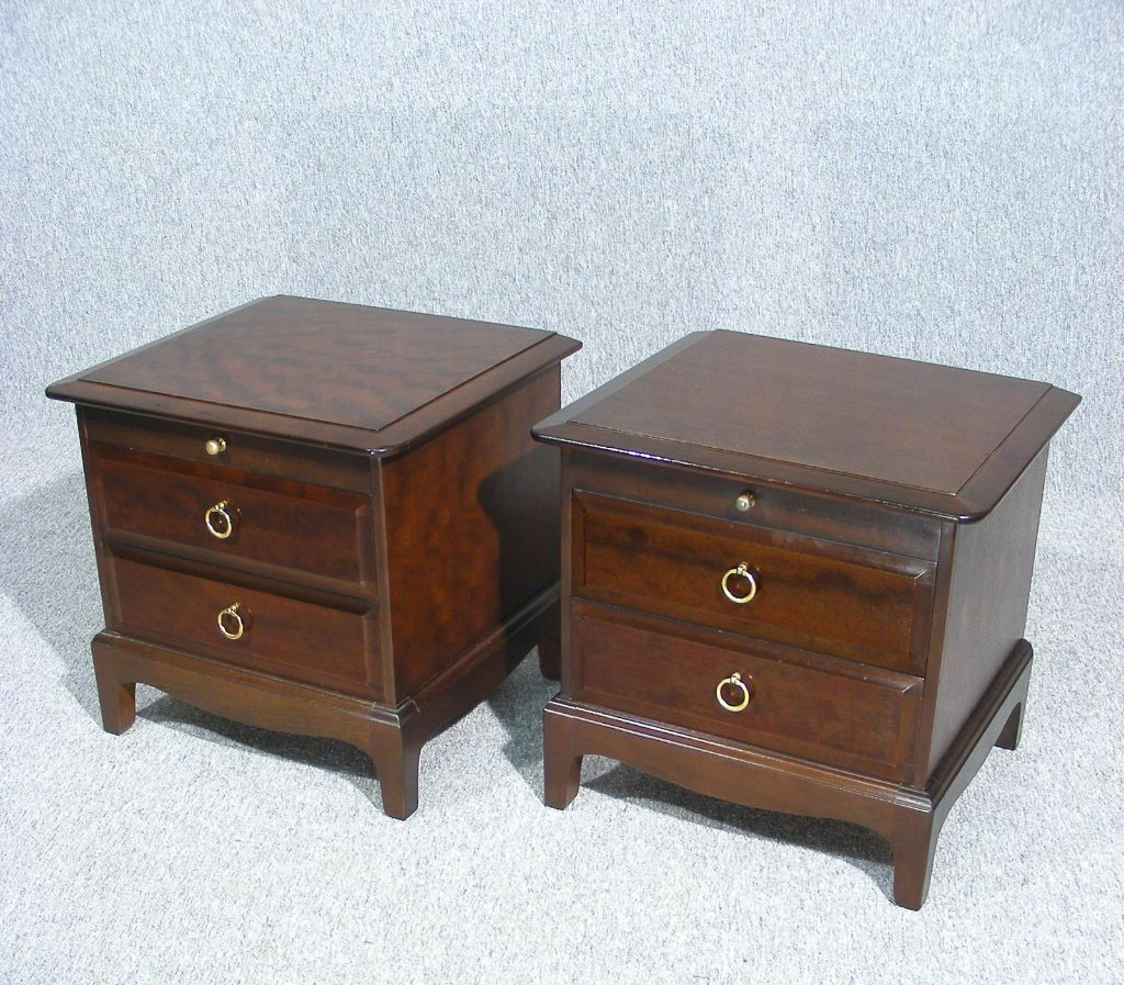 Pair Of Stag Minstrel Bedside Table Cabinets In Ely