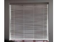 Lovely White Wooden Window Blind