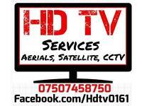 HDTV SERVICES Manchester Aerials, Satellite,CCTV