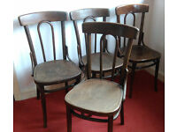 Set of 4 Antique Thonet Bentwood Dining Chairs