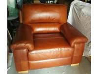 Single genuine leather chair